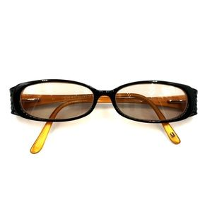 Tommy Hilfiger Black Orange Oval Sunglasses Frames
